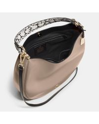 COACH - Metallic Nomad Hobo In Colorblock Exotic Embossed Leather - Lyst