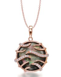 Frederic Sage - Pink Luna Mini Black Mother-of-pearl Pendant Necklace - Lyst