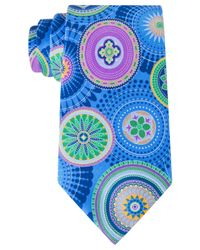 Geoffrey Beene | Blue Eye-catching Circles Tie for Men | Lyst