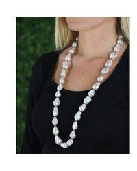 Jordan Alexander - White Baroque Pearl Necklace - Lyst