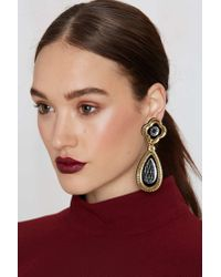 Nasty Gal | Metallic I Still Love You Nyc Luxe Drop Earrings | Lyst