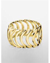 Calvin Klein - Metallic Platinum Body Pvd Gold Bracelet - Lyst