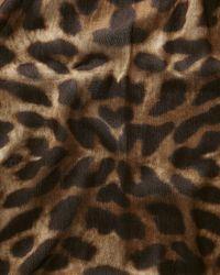 Jaeger - Multicolor Natural Leopard Print Scarf - Lyst