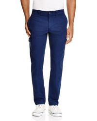 Lacoste - Blue Broken Twill Slim Fit Pants for Men - Lyst