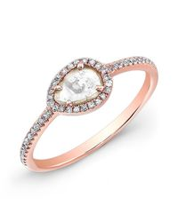 Anne Sisteron - Pink 14kt Rose Gold Sasha Diamond Slice Ring - Lyst