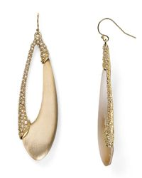 Alexis Bittar | Brown Lucite Encrusted Asymmetrical Teardrop Earrings | Lyst