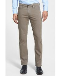 Joe's Jeans | Brown 'brixton' Slim Fit Cotton Twill Pants for Men | Lyst