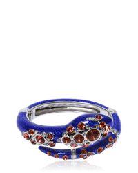 Roberto Cavalli | Blue Snake Bracelet With Swarovski Crystals | Lyst