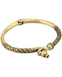 Lucky Brand - Metallic Peacock Hinge Bracelet - Lyst