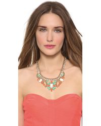 Kenneth Jay Lane - Multicolor Crystal Woven Necklace - Lyst