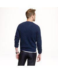 J.Crew - Blue Italian Cashmere Waffle-Knit Sweater for Men - Lyst