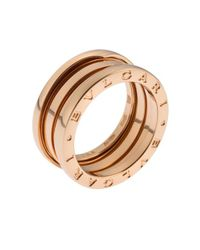 BVLGARI | Metallic Women's B.zero1 18k Rose Gold Ring Size 6 | Lyst
