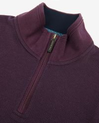 Ted Baker - Purple Half Zip Funnel Neck Jumper for Men - Lyst