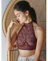 Free People | Brown Kikis High Neck Halter | Lyst