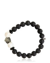 Ocnarf Sairutsa | Black Rock And Raw Bracelet | Lyst
