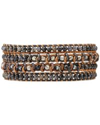 Chan Luu - 33 Blue Pietersite Mix Wrap Bracelet for Men - Lyst