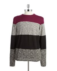DKNY | Red Block Striped Pullover for Men | Lyst
