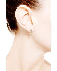 Janis Savitt   Metallic Triple Diamond Hoop Earrings   Lyst