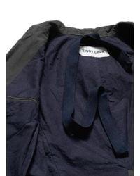 Ziggy Chen - Brown Double Layer Front Cotton-Wool Coat for Men - Lyst