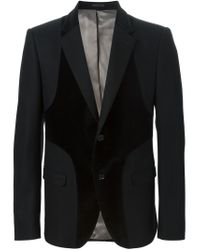 Alexander McQueen - Black Panelled Blazer for Men - Lyst
