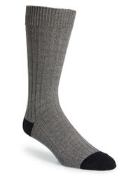 Mr Gray - Black Textile Cotton Blend Socks for Men - Lyst