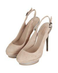 TOPSHOP - Natural Sunny Sling Back Platform Shoes - Lyst