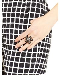Oscar de la Renta - Black Diamond Crystal Baguette Ring - Lyst