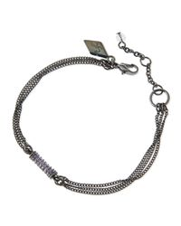 Sequin - Purple Crystal Chain Barrel Bracelet - Lyst