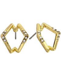 House of Harlow 1960 | Metallic Sound Waves Studs | Lyst