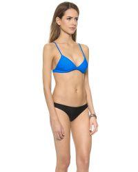 Mikoh Swimwear - Blue Belize Bikini Top - Night - Lyst