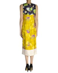 Dries Van Noten - Yellow 3/4 Length Dress - Lyst