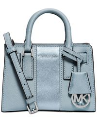 Michael Kors | Blue Michael Dillon Stripe Mini Top Zip Crossbody | Lyst
