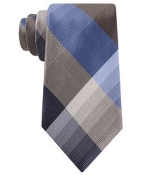 Kenneth Cole Reaction | Brown Skyline Plaid Tie for Men | Lyst