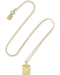 Scosha | Metallic 10-Karat Gold Tag Necklace | Lyst