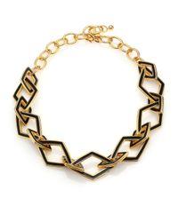 Kenneth Jay Lane | Metallic Kite Open Link Necklace | Lyst