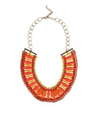 AKIRA - Metallic Waxed Rope & Bead Necklace - Lyst