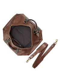 Polo Ralph Lauren | Brown Two-toned Leather Duffel Bag for Men | Lyst