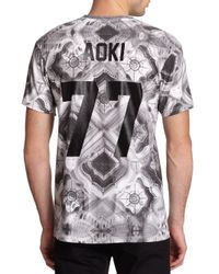 ELEVEN PARIS - Gray Aoki Printed Cotton Tee for Men - Lyst