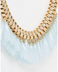 Pieces | Metallic Vallerie Multi Beaded Collar Necklace | Lyst