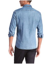 BOSS Orange | Blue Regular-fit Casual Shirt 'classee' With A Light Wash for Men | Lyst
