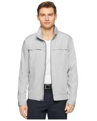 Calvin Klein | Gray Core Lightweight Nylon Jacket for Men | Lyst