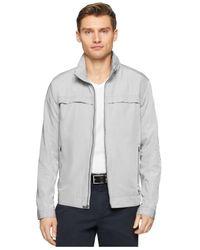 Calvin Klein | Gray Core Lightweight Nylon Jacket for Men | Lyst