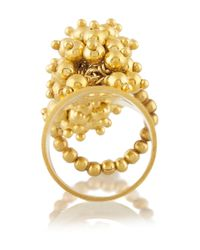 Paula Mendoza | Metallic Jarama Gold-Plated Ring | Lyst