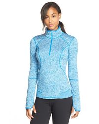 Zella | Blue 'quick Quick' Half Zip Jacket | Lyst