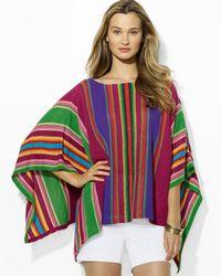 Ralph Lauren | Multicolor Stripe Poncho | Lyst