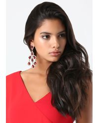 Bebe - Red Chandelier Drop Earrings - Lyst