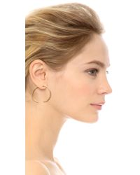 Campbell | Metallic Sparkle Talon Hoop Earrings | Lyst