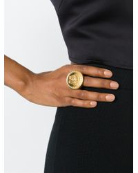 Versace - Metallic Medusa Sovereign Ring - Lyst