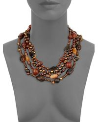 Stephen Dweck - Multicolor Multistone Multistrand Freshwater Pearl Necklace - Lyst