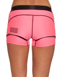 Monreal London | Pink Booty Boost Layered Performance Shorts | Lyst